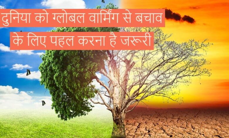 Global warming in hindi
